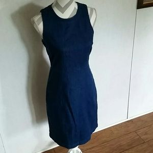 J crew stretch denim dress